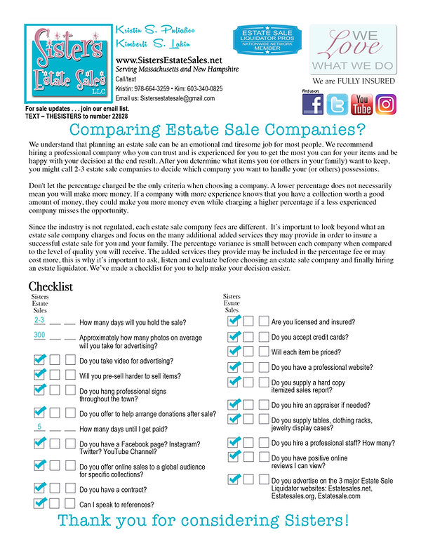 Comparing Estate Sale Companies