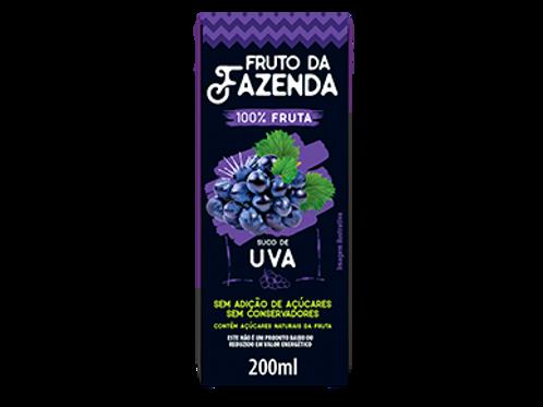 SUCO DE UVA 100% - FRUTO DA FAZENDA  200ML