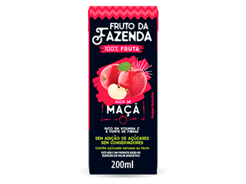 SUCO DE MACA 100% - FRUTO DA FAZENDA  200ML