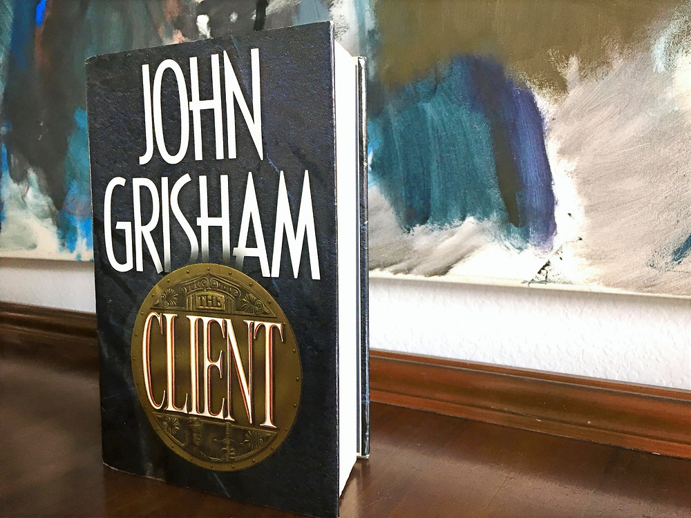 """Hardcover edition of John Grisham's """"The Client"""""""