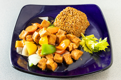 S&S Tofu Fried Rice Platter