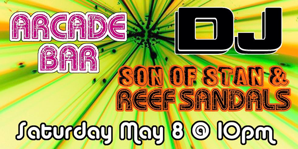 DJ Son of Stan & DJ Reef Sandals - Spinning in the Arcade Bar at Bowlski's SATURDAY