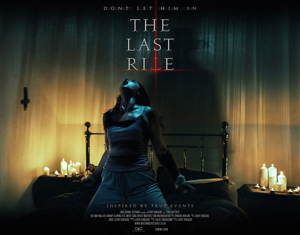 Official Poster for The Last Rite, supernatural horror film