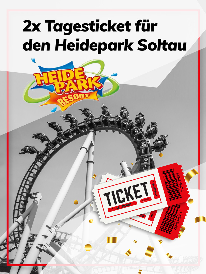2x Tagesticket für den Heidepark Soltau