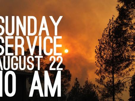 Virtual Sunday Service -August 22, 2021