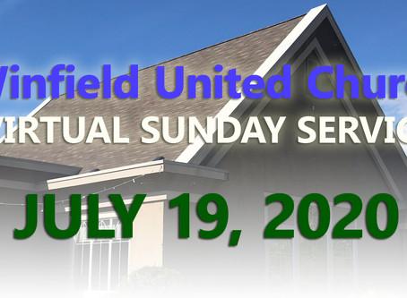 Virtual Sunday Service - July 19, 2020