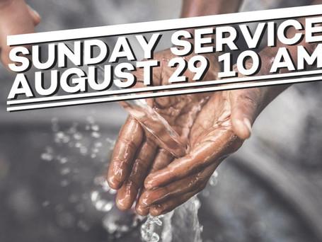 Virtual Sunday Service -August 29, 2021