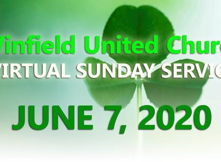 Virtual Sunday Service - June 7, 2020