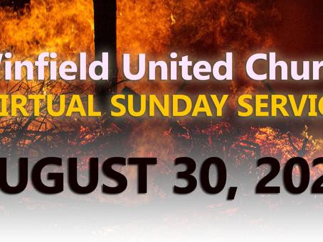 Virtual Sunday Service - August 30, 2020