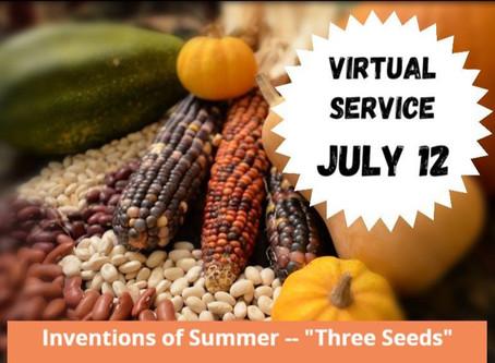 Virtual Sunday Service - July 12, 2020