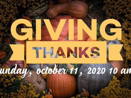 Virtual Sunday Service - October 11, 2020