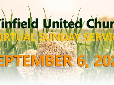 Virtual Sunday Service - September 6, 2020