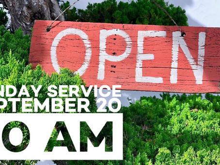 Virtual Sunday Service - September 20, 2020
