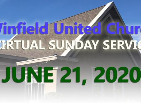 Virtual Sunday Service - June 21, 2020