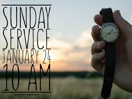 Virtual Sunday Service - January 24, 2021