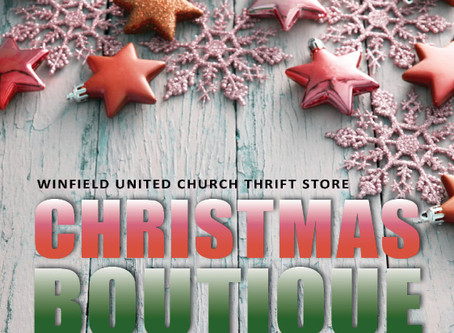 Christmas Boutique - October 17 & 31, 2020