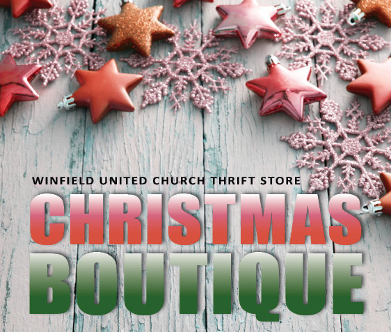Winfield United Church Thrift Store CHRISTMAS BOUTIQUE