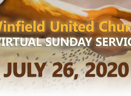 Virtual Sunday Service - July 26, 2020