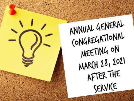 Annual General Congregational Meeting