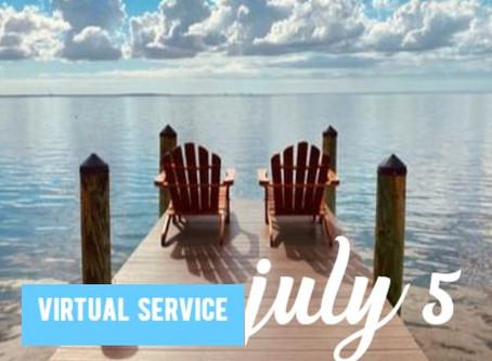 Virtual Sunday Service - July 5, 2020