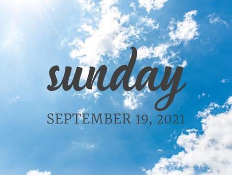 Sky Sunday - September 19, 2021