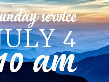 Virtual Sunday Service - July 4, 2021