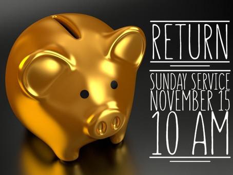 Virtual Sunday Service - November 15, 2020