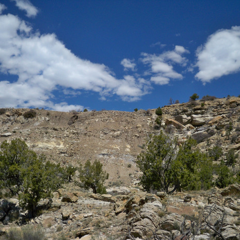 Uranium waste pile on Black Mesa.
