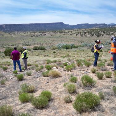 Jeremy, Brandi, and Byrickson recording a site.