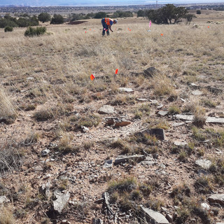 Matt recording an Anasazi site.