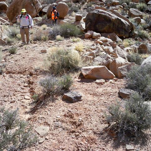 Jeremy and Brandi surveying a mine area.