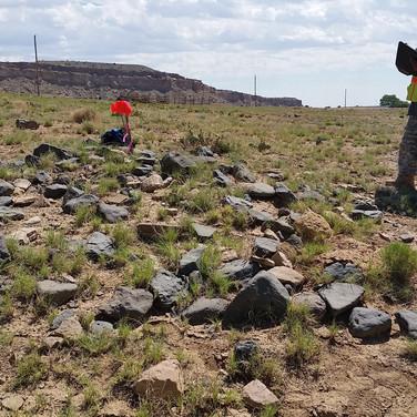 Jeff recording an Anasazi site.