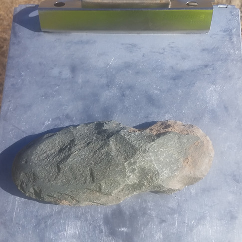 A granite lithic tool.