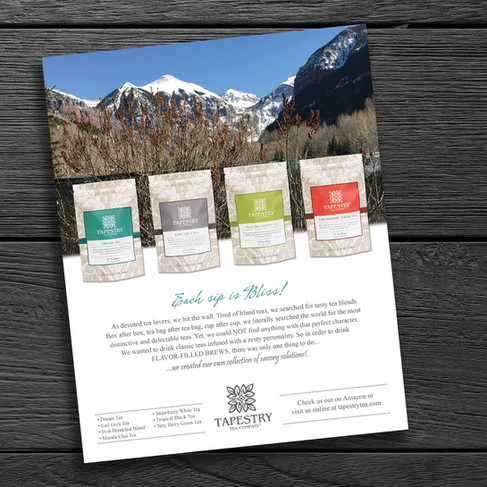 Product Packaging & Sales Flyer