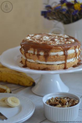 Vanilková torta s banánmi a karamelom