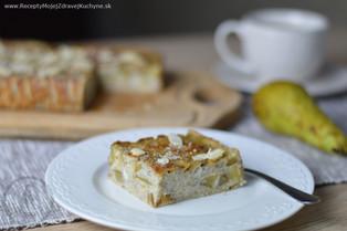 Hruškový koláč s medom a mandľami