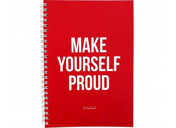 "Cuaderno ""Make yourself proud"""