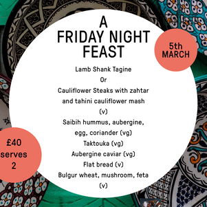 FRIDAY NIGHT FEAST IS BACK