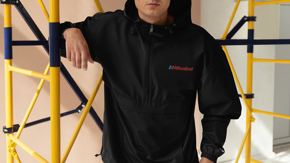Mthusiast Embroidered Champion Packable Jacket
