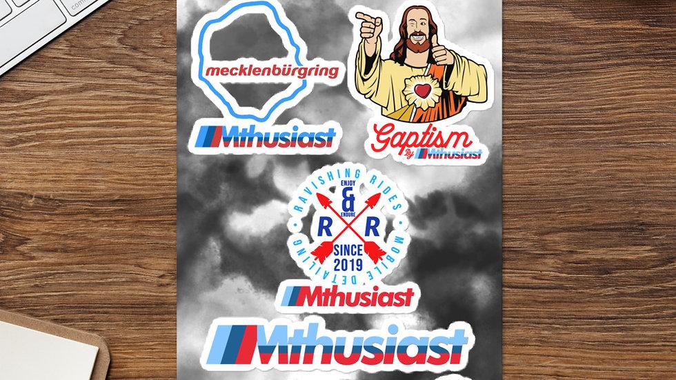 Mthusiast Sticker sheet