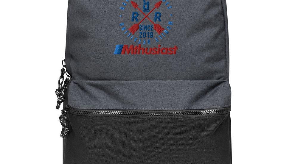 Mthusiast Embroidered Champion Backpack