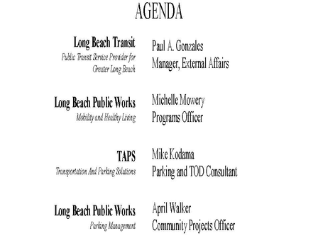 DRC offers Transportation and Parking forum