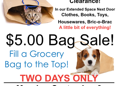 $5.00 Bag Sale!