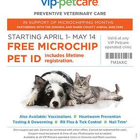 Microchip your pet for FREE! April 2018