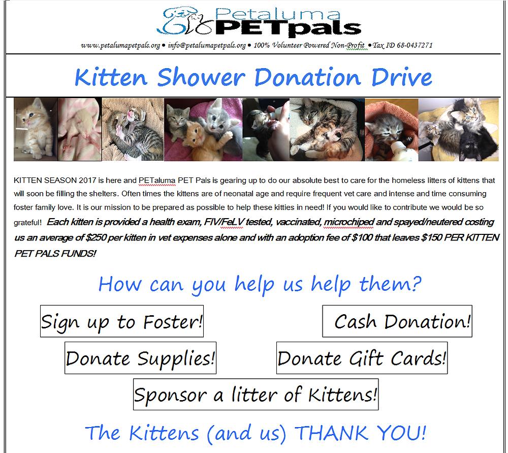 Kitten Season 2017.  Help Us Help Them!