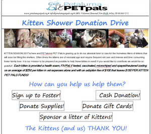 Kitten Season 2017.  Help Us Help Them!