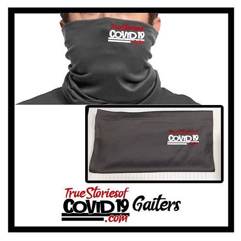 Neck Gaiter mask with Truestoriesofcovid19.com logo