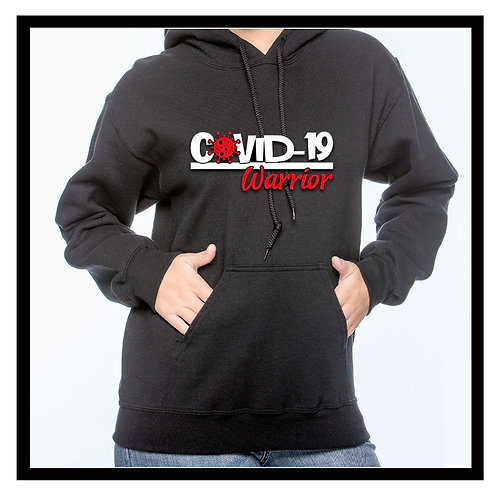 Gildan pull-over hoodie.  COVID-19 Warrior, Survivor or Long-Hauler S, M, L, XL