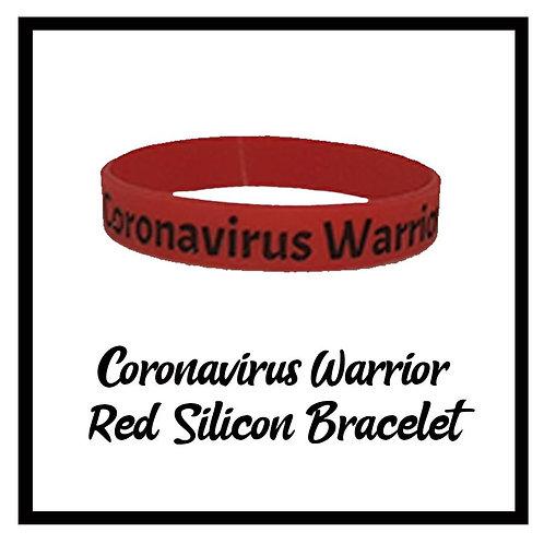 Coronavirus Warrior Red Silicon Bracelet- one size