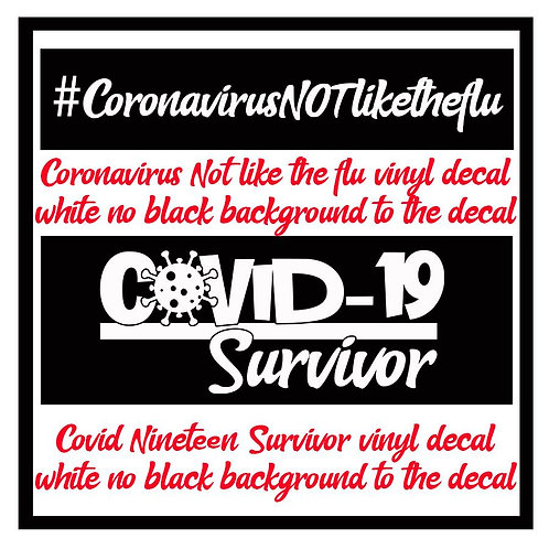 Covid-19 Survivor vinyl decal